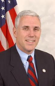 Indiana Governor Mike Pence (R,IN, V.P. nominee)